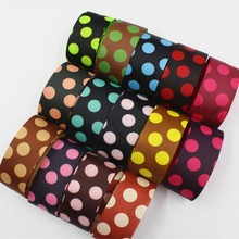 16708-33F1 , 14 color can choose 38mm Dot Printed grosgrain ribbon, DIY handmadeHair accessories Material wedding gift wrap