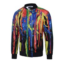 Men Pilot Jacket Baseball Men's Windbreaker Jacket Men's Casual Fashion Slim Jacket Print Jacket 2019 Summer New Harajuku Style Jackets