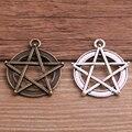 10 stücke 27*30m Metall Legierung Zwei Farbe Finish Wicca Pentagramm Charms DIY Armband Halskette Schmuck Erkenntnisse