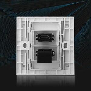 Image 2 - Двойные HDMI розетки, лицевая панель, L образный локоть, HDMI2.0 штекер, Женский удлинитель, настенная розетка