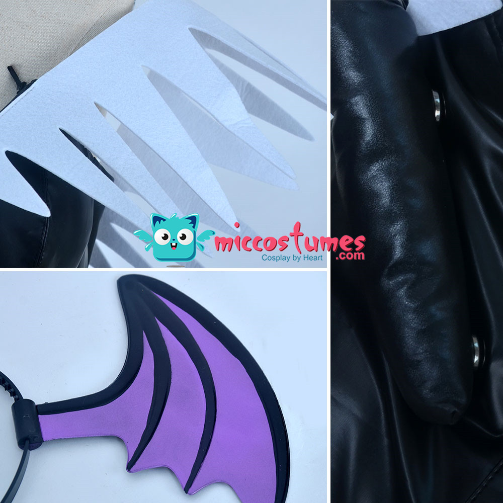 Image 5 - Morrigan Aensland Cosplay Costume with Wings Whole Set Outfit-in Movie & TV costumes from Novelty & Special Use