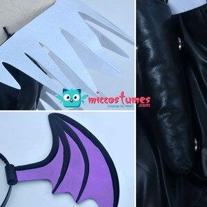 Image 5 - Morrigan Aensland קוספליי תלבושות עם כנפי כל סט תלבושת