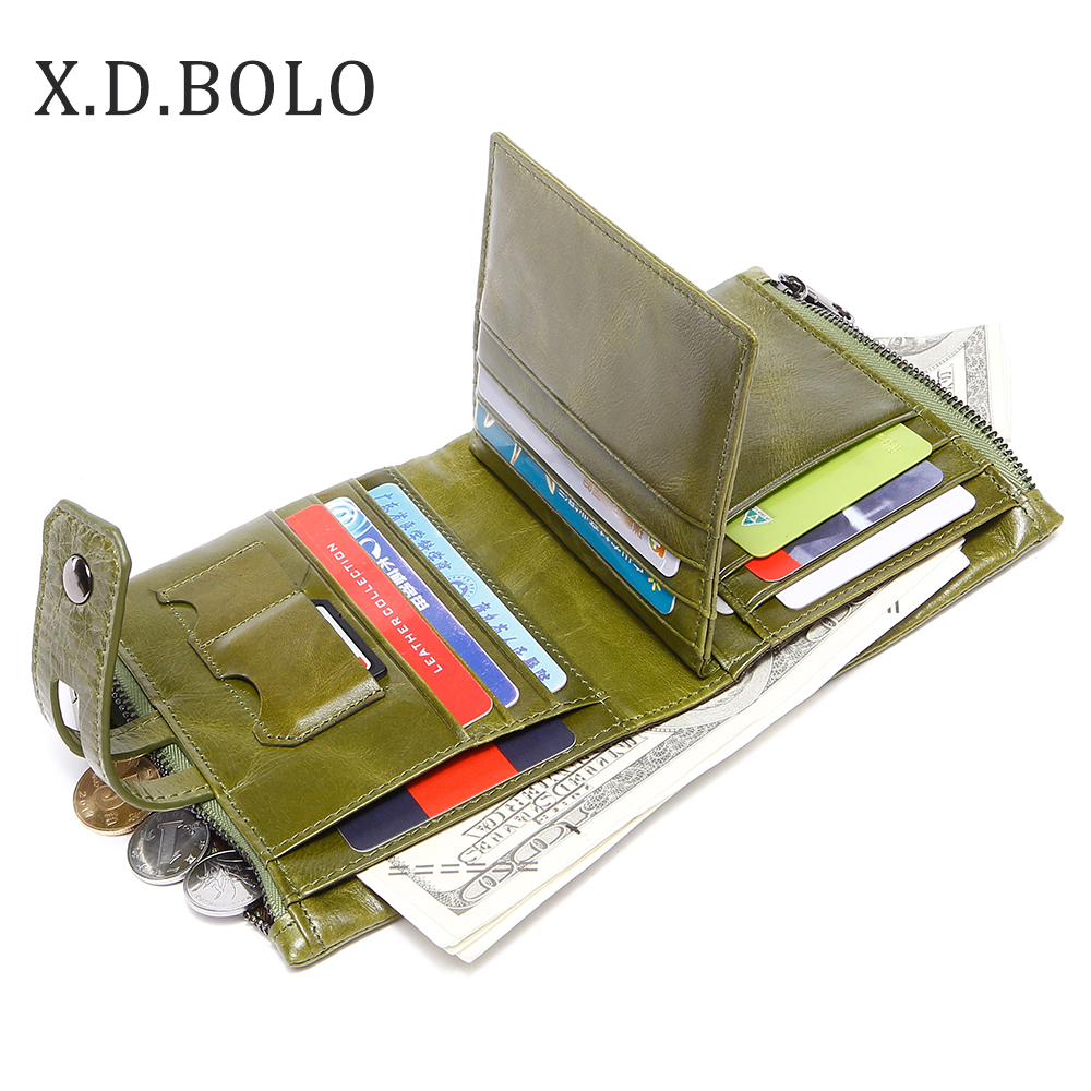 X.D.BOLO Fashion Design Wallet Women Genuine Leather Card Holder Female Purse Zipper Short Clutch Ladies Purses with Coin Pocket 2018 new arrival women s wallet long genuine leather brand quality ladies purses with zipper coin pocket card holder bag