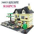 816 unids sin caja original Enlighten Del Bloque hueco 3D de Construcción de Ladrillo Bloque Educativo juguete para niños legeod