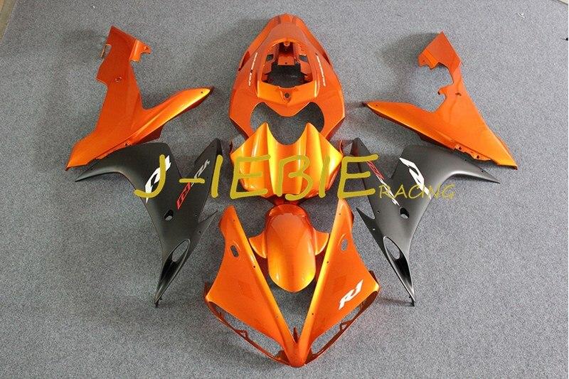 Orange black Injection Fairing Body Work Frame Kit for Yamaha YZF 1000 R1 2004 2005 2006
