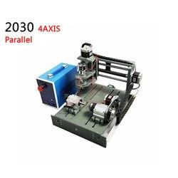 4 osi mini cnc maszyny 3020 pcb grawerowanie router z obrotowym axis 300 w spinlde port równoległy