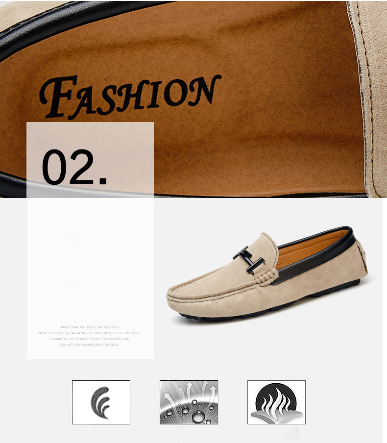 Men's Top Brand Fashion Casual Soft Loafers Suede Boat Shoes Male Footwear Adult Drivings Summer Moccasins Hommes Plus Size 11 55