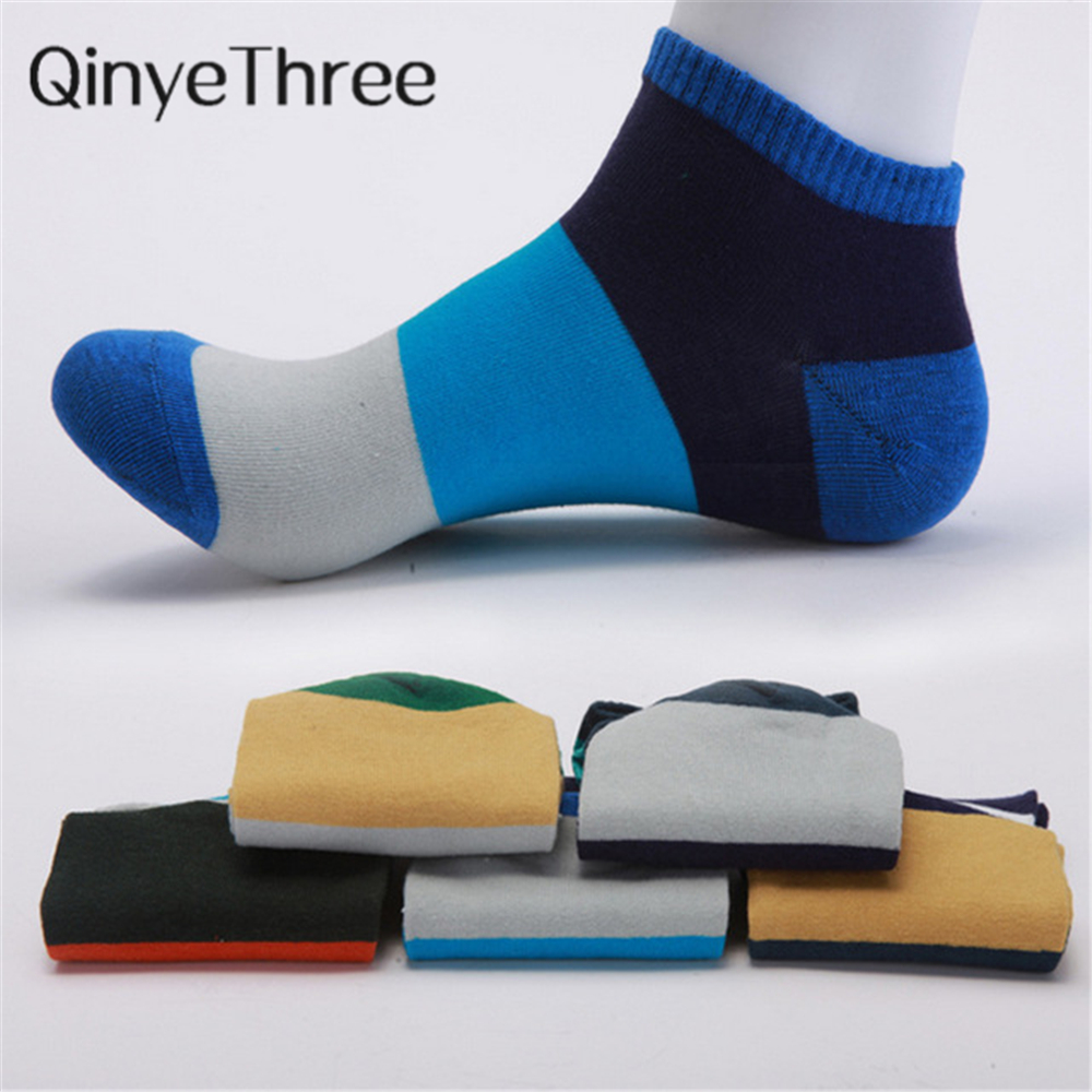 New Arrivals Leisure Cotton Men   Socks   Good Quality Short   Socks   Warm Stitching Color Antiskid Invisible Casual   Socks   Male