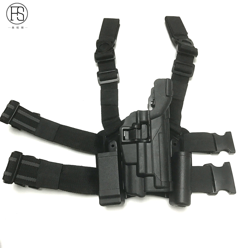 FS Tactical Holster Style Sig P226 Light Bearing Ver. W/ Mag Pouch Platform Drop Leg Holster Magazine Pouch