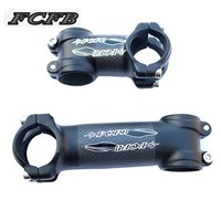 Super Light FCFB Black Matt Black Glossy Sticker Alloy 3k Carbon Fiber Stem Road Bike