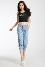 Женщины карандаш джинсы худощавое хороший значительно ноги упругой ноги женские брюки весна эластичный пояс джинсовой женщины джинсы