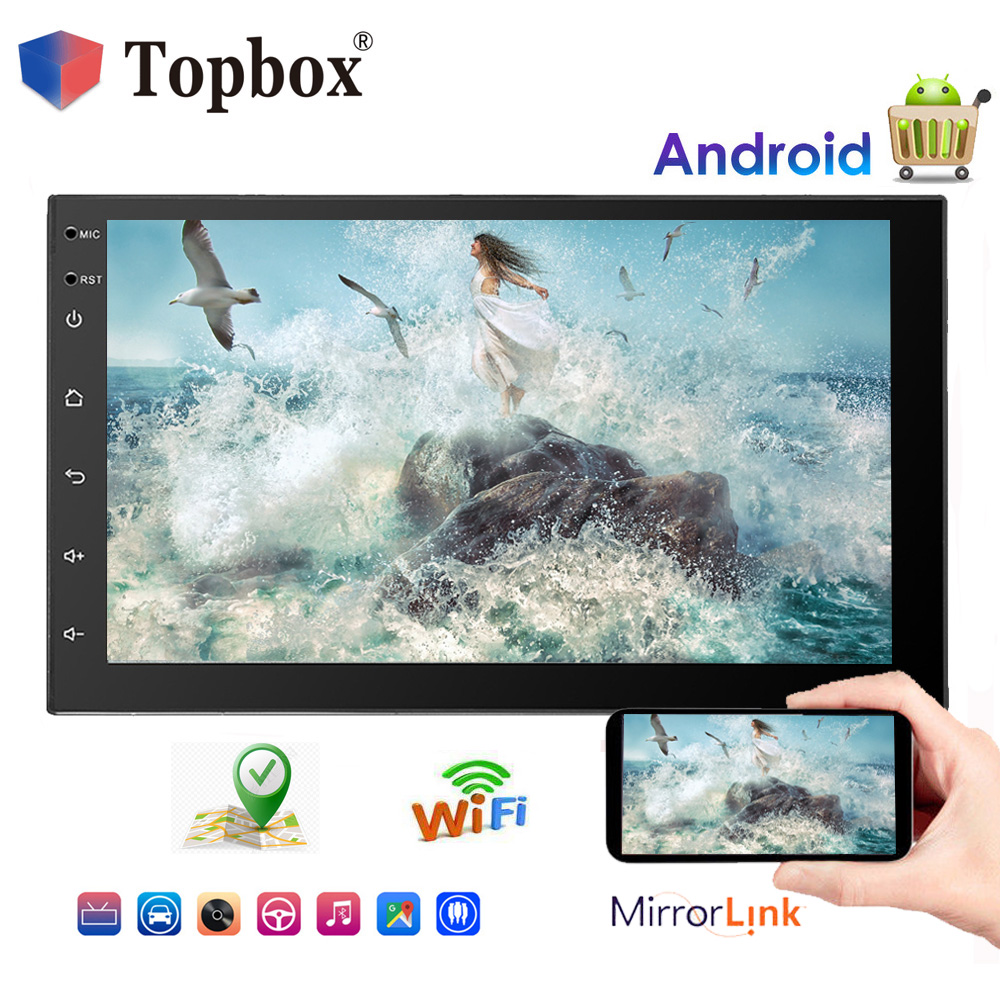 Topbox Car Radio 7 Android Player GPS Navigation Wifi Bluetooth Touch USB SD 2 Din Car Multimedia Player Audio Player AutoradioTopbox Car Radio 7 Android Player GPS Navigation Wifi Bluetooth Touch USB SD 2 Din Car Multimedia Player Audio Player Autoradio