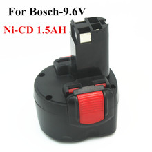 A estrenar 9.6 V 1.5Ah Ni-cd Reemplazo Batería de La Herramienta Eléctrica para Bosch BAT048 BAT100 BAT119 2 607 335 260