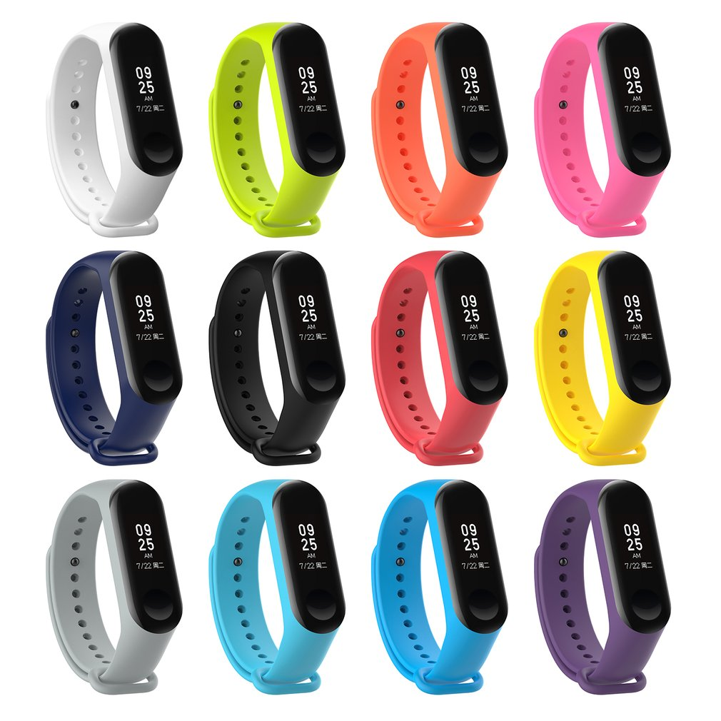 Multicolor Silicone Watchband For Xiaomi Mi Band 3 Strap Bracelet Wristband Straps Replacement Watch Accessories