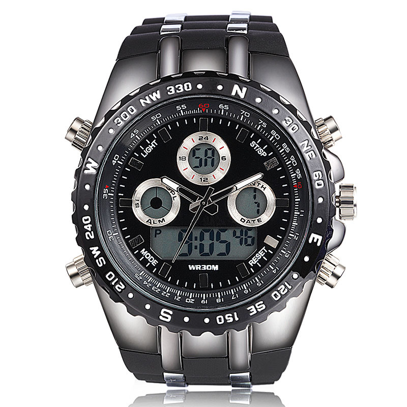New Big Dial Sport Watches Men Wristwatches Digital ...