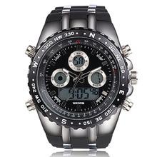 Новый Большой Циферблат Спортивные Часы Мужские Наручные Часы Цифровой Водонепроницаемые Наручные Часы Для Мужчин Silonce Ремень Черный Электронный Движение Reloj