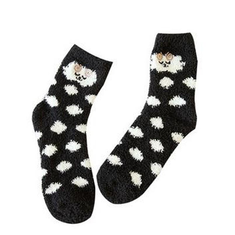 Cute Animal Fuzzy Cozy Warm Thicken Soft Ankle Towel Floor Socks Hosiery Unisex women's socks casual meia dropshipping 40al19