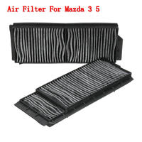 2Pcs Cabin Air Filter Carbon Fiber For Mazda 5 2006 2010 for Mazda 3 2004 2009 BP4K 61 J6X|Cabin Filter|Automobiles & Motorcycles -