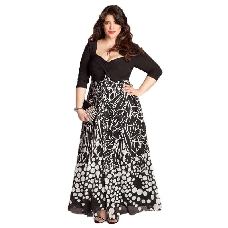 PANJOINER Plus Size 3XL 4XL 5XL Women Maxi Dress Elegant Evening Party Dress  Square Collar Neck 9ccf65171d8b