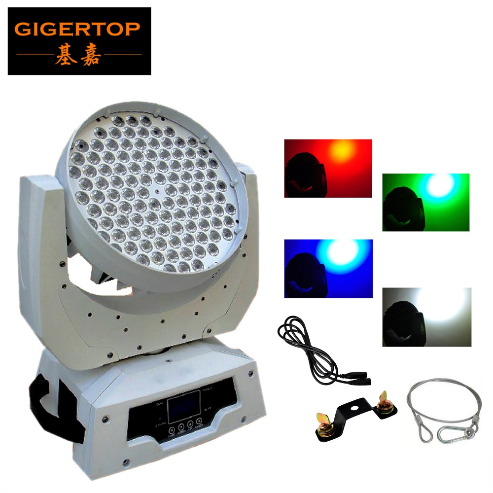 TIPTOP RGBW Led Moving Head Light 360W White Color Housing Martin 108 3W DMX 12CH Elatio ...