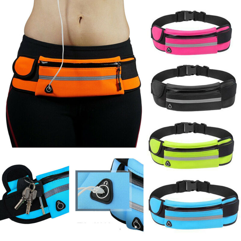 Women Running Bag Sports Waist Bags Waterproof Hiking Bum Bag Sport Camping Waist Belt Fanny Pack