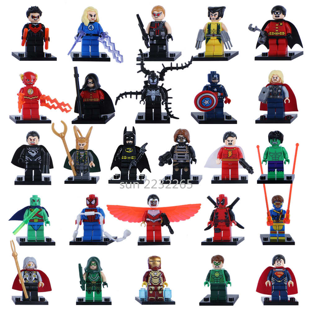 1pcs Avengers Endgame Captain America Marvel Iron Man Thanos Deadpool Hulk Building Block Toys