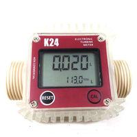 K24 turbo dijital akış ölçer debimetre Dizel yakıt su plomeria akış göstergesi taşınabilir Türbin Debimetre caudalimetro sensörü Su saatleri Aletler -