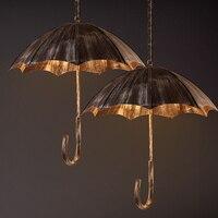 Ретро творческий зонтик Ветер промышленные Лофт сделать старый кованого железа кафе бар ресторан подвесные светильники личности Книги по
