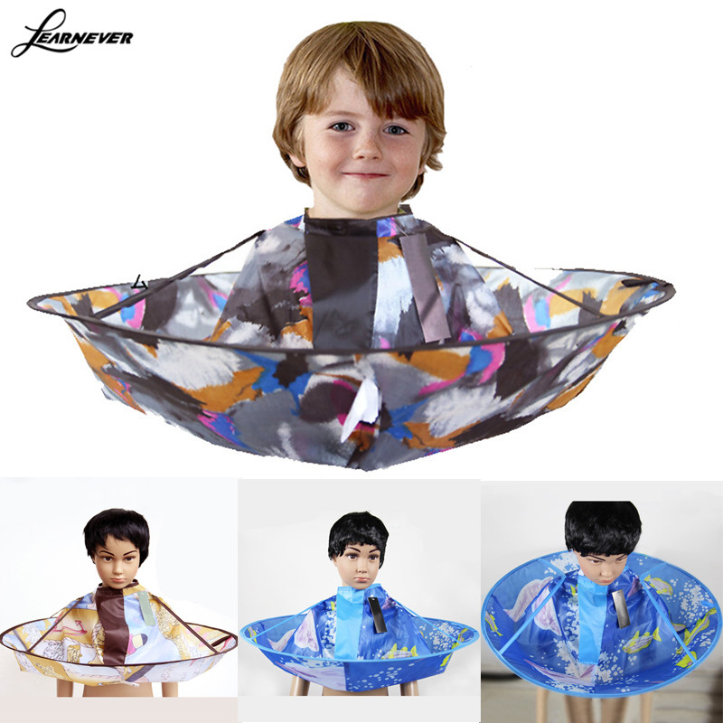 Barber Kids Hair Cutting Cape Gown Salon Hairdresser Barber Apron Hairdressing Children Haircut Barber Protools M02947