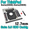 Fast SATA 3.0 to Sata 2nd HDD Caddy 12.7mm SSD Case Enclosure Optibay for IBM Lenovo Thinkpad R400 R500 T420 T430 T520