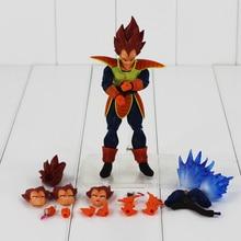 16 cm Mutável estilo Chegada Nova SHFiguarts Cabelo vermelho De Dragon Ball Z Vegeta Batalha Movable Ação PVC Figura Toy