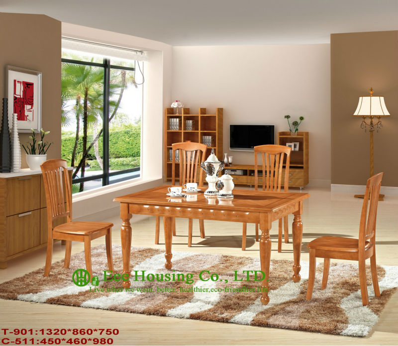 T-901,C-511   Luxurious Solid Dining Chair,Solid Wood Dinning Table Furniture With Chairs/Home Furniture