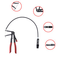 Flexible Wire Long Reach Hose Clamp Plier Car Fuel Oil Water Pipe Repairing Tool For Motorcycle