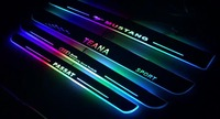 Qirun Acrylic LED moving door scuff plate sill light colorful changing dynamic pathway lamp for volkswagen passat b6 b7 b8 cc