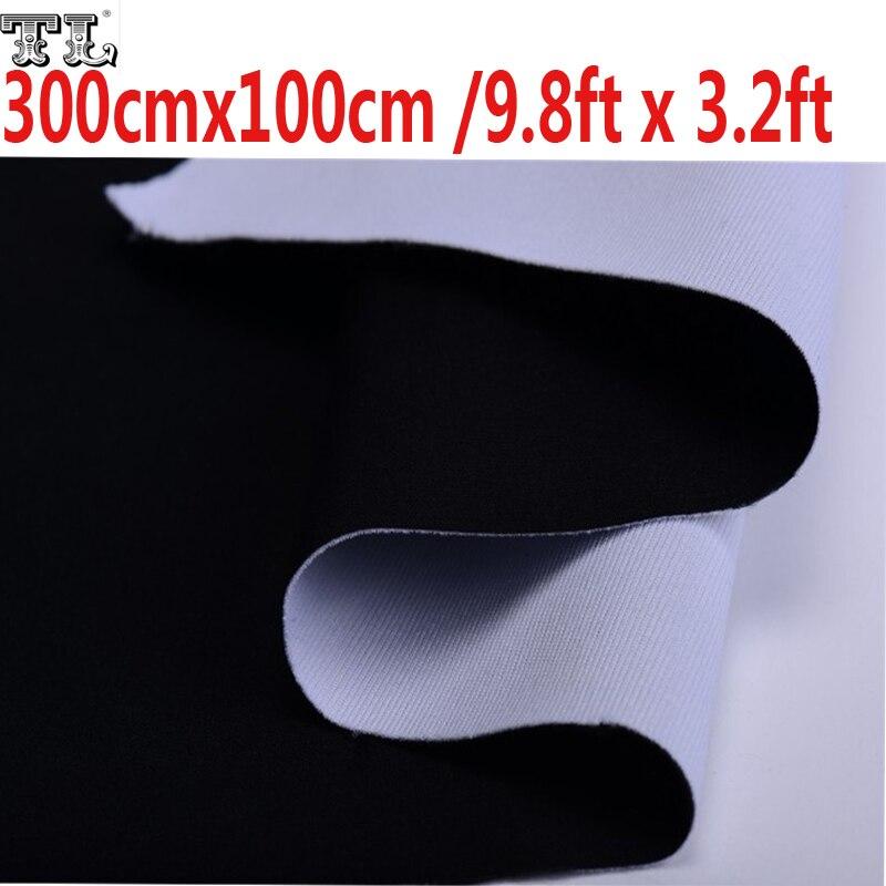 3x1 M Double 2 Visage Tissu 9.8ft x 3.2ft Fond Vert et Bleu Noir et Blanc Coton Chroma clé Muslin Contextes D'écran matériel