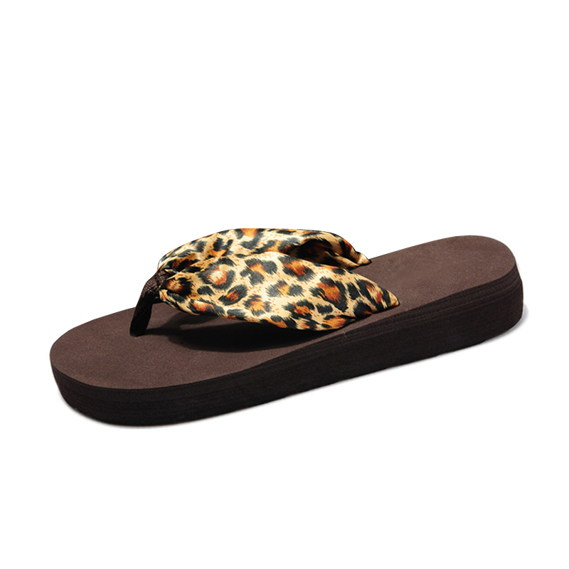 Leopard Flip Flops 2017 Slip On Sandals Casual Creepers Summer Style Platform Shoes Woman Plus Size Slippers size 35-42 phyanic 2017 gladiator sandals gold silver shoes woman summer platform wedges glitters creepers casual women shoes phy3323
