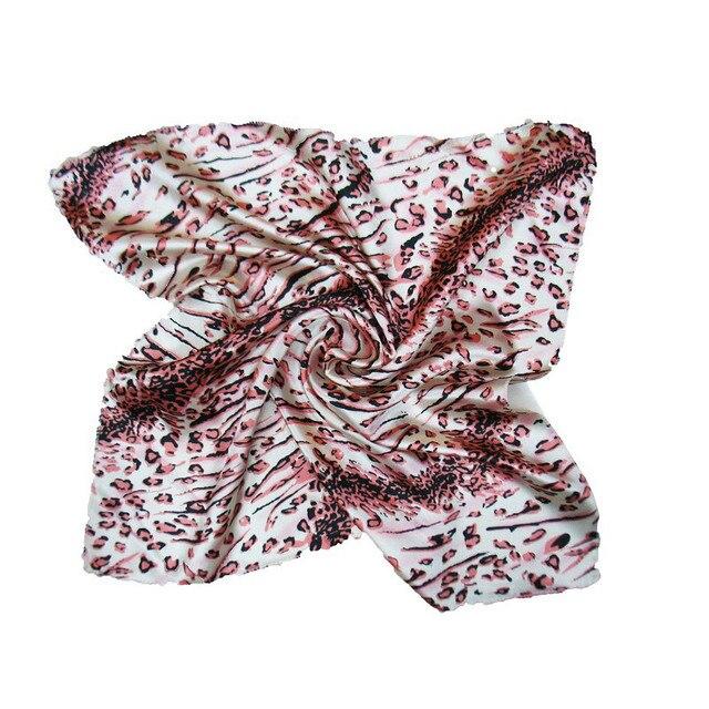 Platz Schal Haar Krawatte Mode Koreanische Druck Tier Leopard Business Kleine Kopf hals Satin Seide Schal Für Frauen