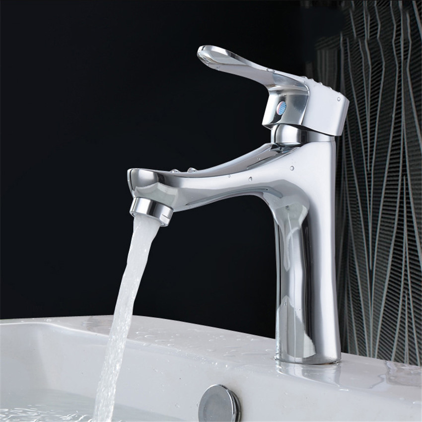 Kitchen Faucet Superior in Quality and Reasonable in Price Chrome Polished Basin Faucet Hot and Cold