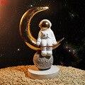 Скульптура космонавта из смолы  украшение для дома  аксессуары  современные летающие сны детства