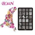 BQAN 10 unids/lote Irregular Línea Imágenes Nail Art Stamping Placas CK09