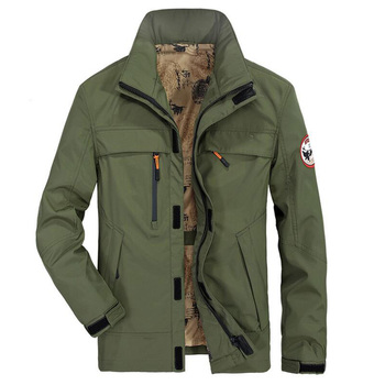 Brand Jacket Men's Jackets And Coats Military Coat For Men Outwear Jacket Hooded Solid Casual Loose Men's Windbreaker Plus 4XL