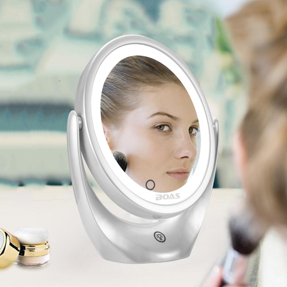 Led Make-up Spiegel Licht Tragbare Kosmetische Espejo De Maquillaje Backlit Spiegel Espelho Mit Licht 5x Vergrößerungs Eitelkeit Spiegel #68 Elegante Form Haut Pflege Werkzeuge