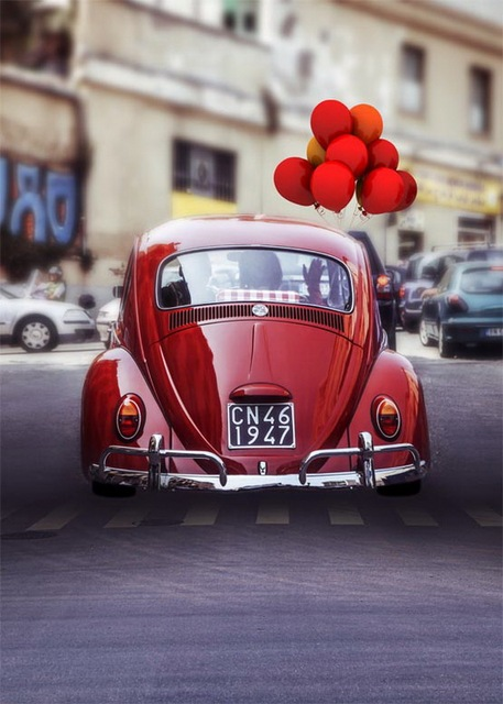 Red Balloons On Car Photography Backdrops Valentine Photo Background For  Photo Studio Backgrounds Photophone S