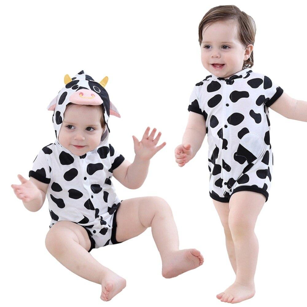Baby Halloween Hoodie Onesie Summer Cows Romper Infant Toddler Leotard Age 0-23 Month