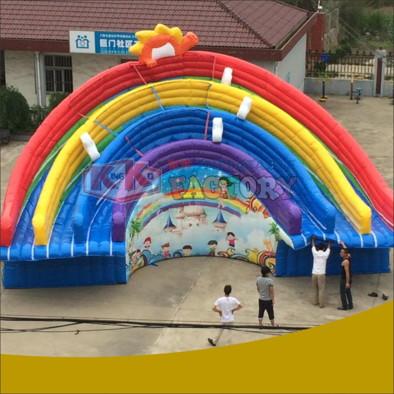 Large Inflatable Slide Manufacturers  Inflatable Water Park Combination,water Games,water Slide Inflatable Aqua Amusement Park