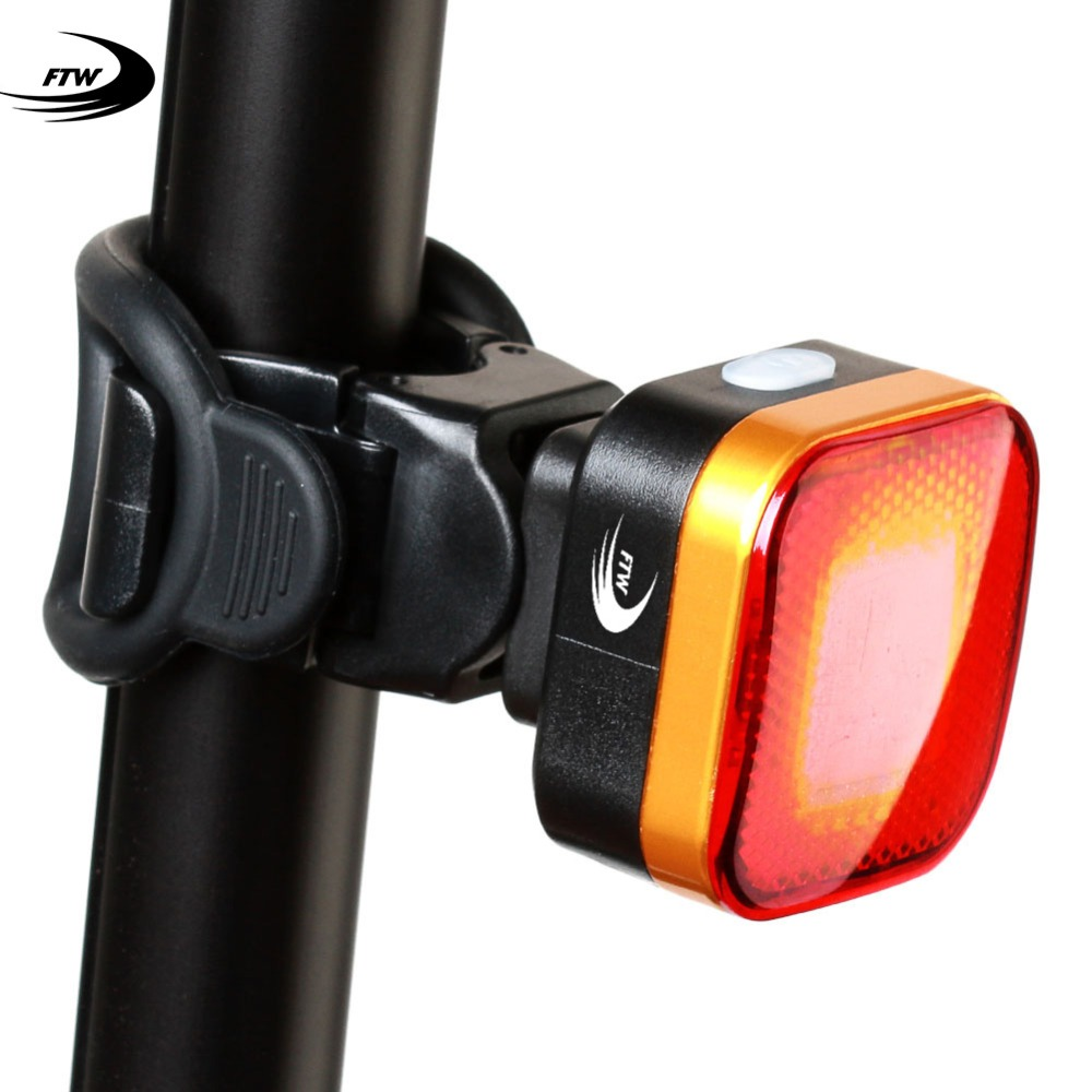 FTW Bike Tail Light USB Rechargeable for MTB Road Bicycle Rear Back Light Waterproof Night Cycling safety warning LED Lamp TL224
