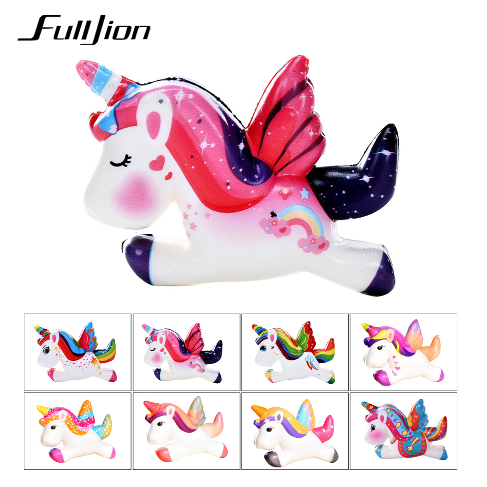 Fulljion Squishy Unicorn Sports & Entertainment Squish Novelty Gag Toys Stress Relief  Stress Fun Surprise Squish