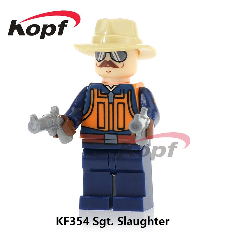 KF354 Super Heroes Gi Joe Series Matt With Junkyard Dog Sgt Slaughter Bricks Building Blocks Model Education Children Gift Toys