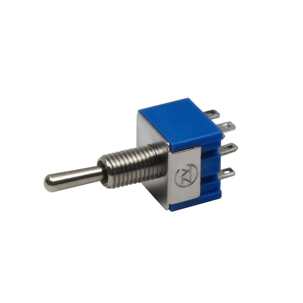 6 stücke Blau Mini Electirc 2 3 wege schalter AC 125 V 6A AUF/AUF ...