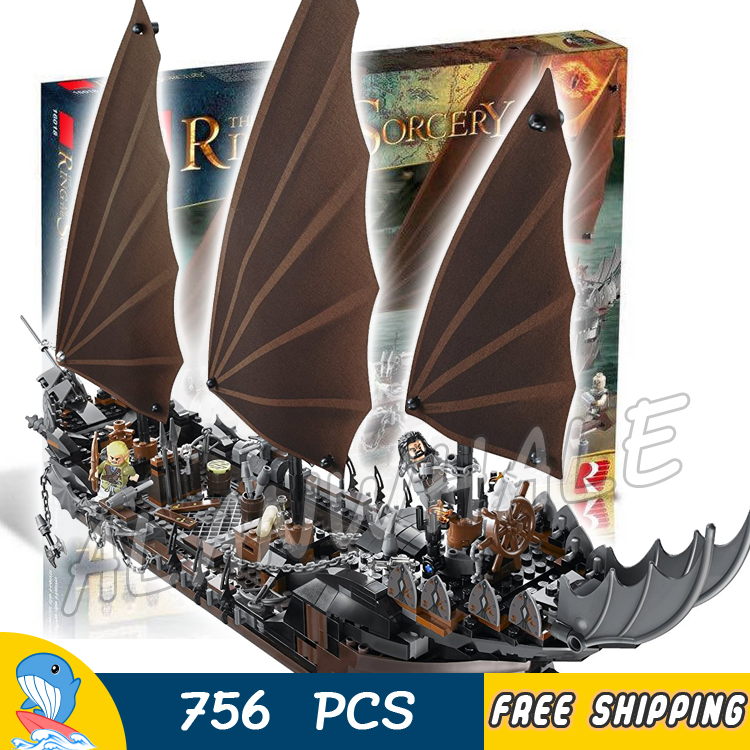 756pcs Lord of the Rings Pirate Ship Ambush 16018 DIY Model Building Kit Blocks Gifts Children Toys bricks Compatible With lego lepin 16018 756pcs genuine the lord of rings series the ghost pirate ship set building block brick toys compatible legoed 79008